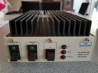 TE SYSTEMS 4410G 100 watts + AMPLIFIER UHF 420- 512 mhz