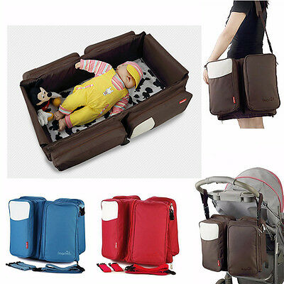 Baby Bed Nursery Diaper Changing Crib Nappy Bag Fold Infant Travel Cradle 8209H