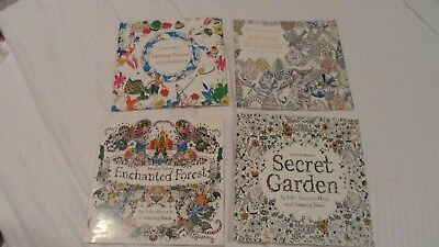 Secret Garden An Inky Treasure Hunt and Coloring Book by Johanna Basford 4 pack
