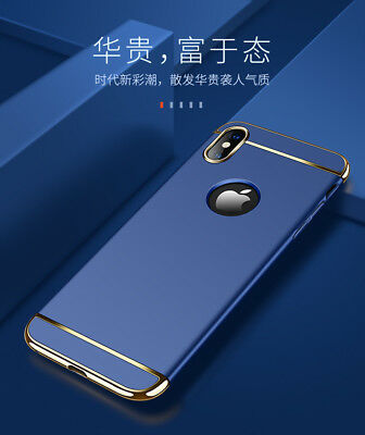 For iPhone X 10 Luxury Hybrid Ultra Thin Slim Hard Shockproof Bumper Case Cover