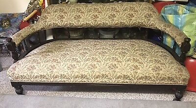 Antique Victorian seater settee /parlour/couch