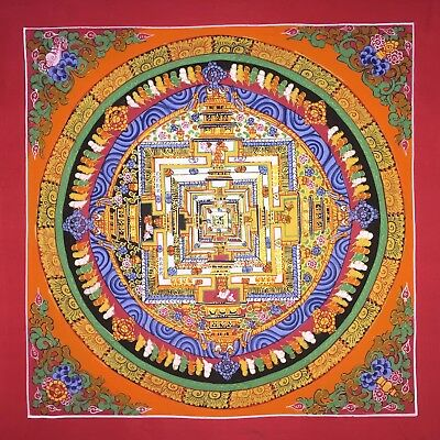 Original Tibetan Chinese Hand Painted Mandala Meditation Painting thangka 100