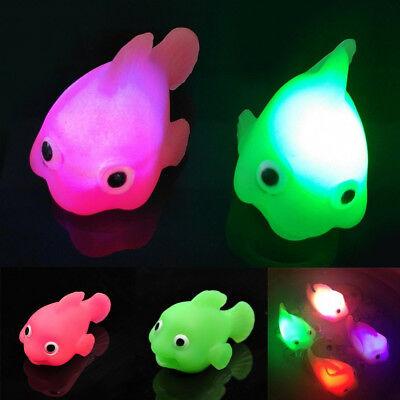 Kawaii Baby Water Induction LED Light Up Changing Goldfish Lamp Bathtime Toys