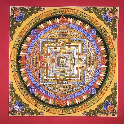Original Tibetan Chinese Hand Painted Mandala Meditation Painting thangka 101