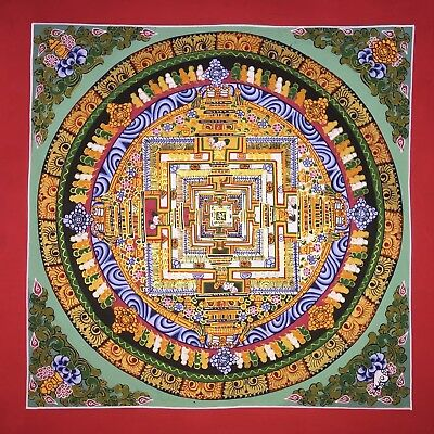 Original Tibetan Chinese Hand Painted Mandala Meditation Painting thangka 104