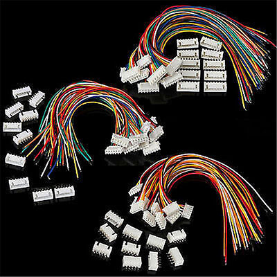 4S1P/5S1P/6S1P Battery Balance Charger Cable Wire Connector JST XH Plugs 10Pcs