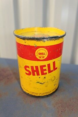 Collectable Original Shell One Pound Grease Oil Tin