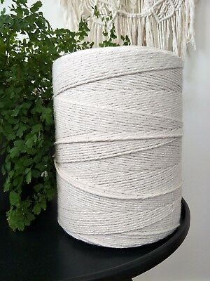 macrame cord 3mm 960m 2kg rope string 100% cotton single twist twisted australia