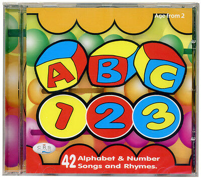 ABC 123 CD  Alphabet & number songs and rhymes  NEW & WRAPPED FROM PUBLISHER