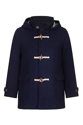 Ex Mini B*d*n Wool Navy Duffle Quilted Coat Toggle Rrp£66