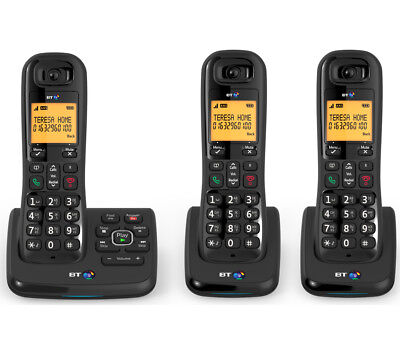 BT XD56 Cordless Phone with Answering Machine - Triple Handsets - Currys