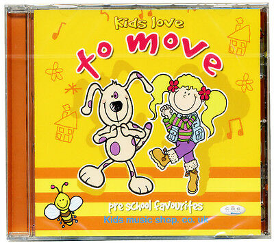 Kids love to Move CD.  Children's activity songs.  NEW & WRAPPED FROM PUBLISHER
