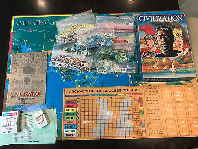 Civilization (1982) Avalon Hill Second Edition - Very Good condition complete