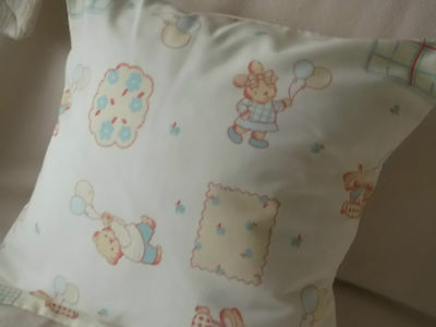 CHILDRENS NURSERY PRINT CUSHION HANDCRAFTED BY THE SELLER 100% Cotton
