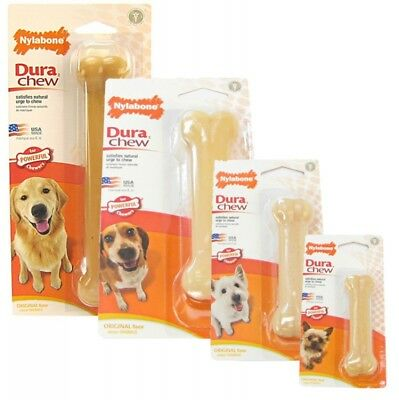 Nylabone Dura Chew Original Tough Durable Strong Dog Bone Toy Sizes