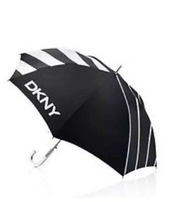 *F2 New DKNY Donna Karen New York Large Umbrella With Clear Glass Looking Handle