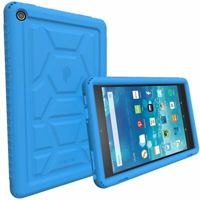 For Amazon Fire HD 8 Rugged Case Poetic TurtleSkin Shockproof Silicone Cover BU