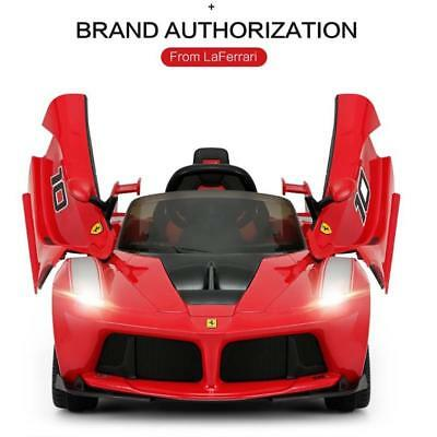 Licensed Ferrari LaFerrari Electric 12V Rechargeable Twin Motor Kids Ride On Car