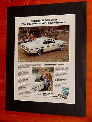 1975 Plymouth Gold Duster 11 X 14 Ad Ready To Frame - 70S Vintage Mopar Retro