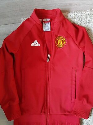 Boys Addidas Manchester United Jacket (Tracksuit Top) Aged 7-8 Years
