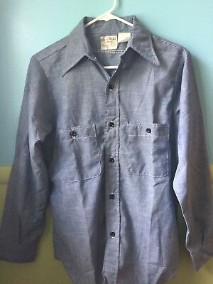 Vintage Coast Wide Light Work Shirt Rare Good Condition Union Made