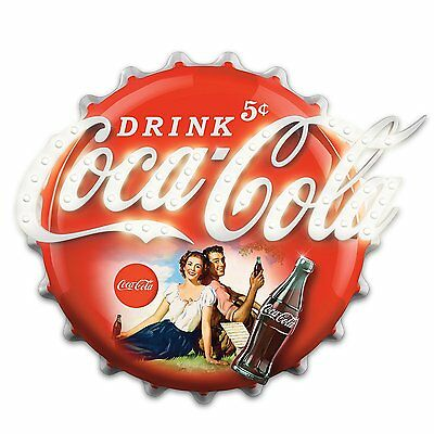 COCA-COLA Illuminated Marquee Sign Wall Decor by Bradford Exchange
