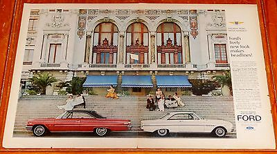 1963 Ford Galaxie 500 Xl & Falcon Futura Coupe Large Ad - Vintage 60S Classic