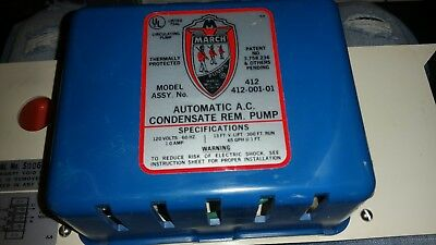 March Pumps Manufacturing Automatic A.C. Condensate Pump Magnetic Pump # A-87-1