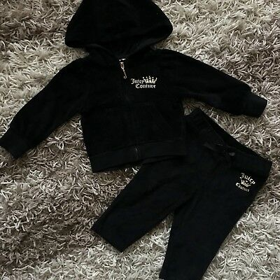 Juicy Couture Kid Girl Black Tracksuit 12 Months 1 Year