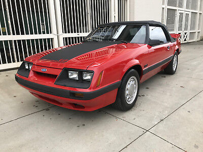 1986 Ford Mustang gt 5.0 1986 Ford Mustang GT 5.0 Convertible Saleen Wing All Original NO RESERVE