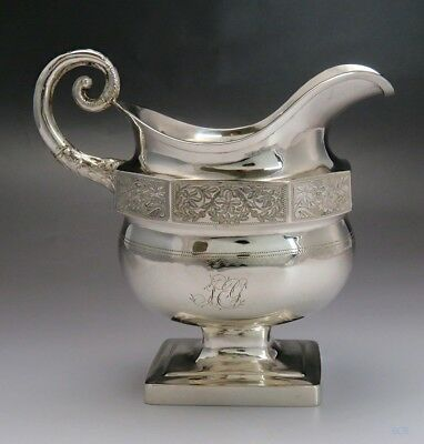 c1810-1834 Great American Coin Silver Creamer William Thomson