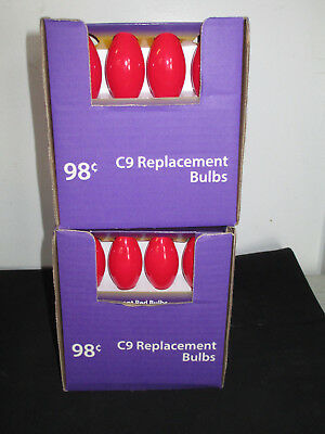 Lot of 144, C9 RED Replacement Bulbs, Christmas Lights, NEW IN PACKAGE
