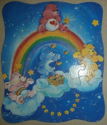 1986 Vintage Care Bear **no Tray** 22 Piece Jig Saw Puzzle~Pre-Owned~Still Nice!