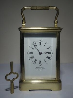 Fully overhauled antique French striking carriage clock by Drocourt - circa 1880
