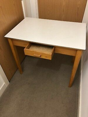 Retro Vintage Wooden Desk With Drawer