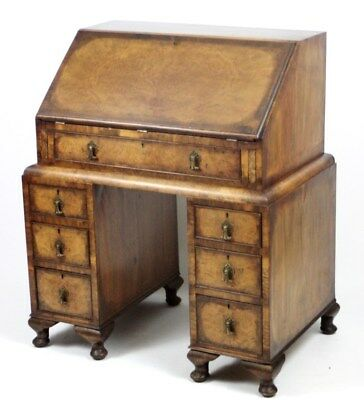 18c Antique Georgian Walnut Bureau Writing Desk - FREE Shipping [PL3146]