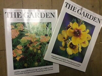 Two copies of The Garden RHS Journal magazine from 1999