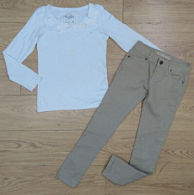 NEXT NEW LOOK girls bundle age 10-11 yrs 11 yrs sequin bow top skinny trouser