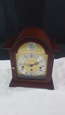 Hermle of Germany Wind-up Mantle Clock Wood Case Quarter Chiming Hour Striking
