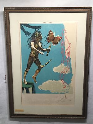 1978 Salvador Dali Release of the Psychic Spirit Lithograph