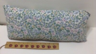 Long Narrow Hand Sewn And Stuffed Multi - Colored Pillow