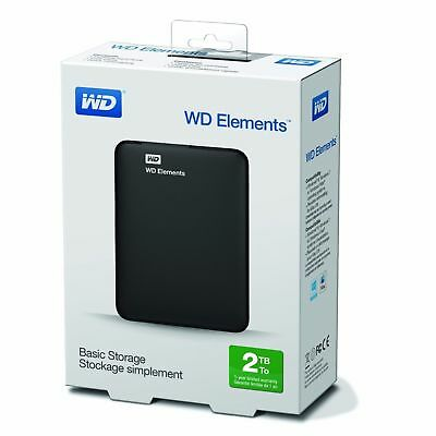 "HARD DISK ESTERNO 2.5"" WD 2000GB 2TB Elements SE USB3.0 - WDBU6Y0020BBK"