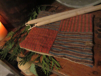 Old Early Antique Primitive Grungy Linsey Woolsey Pot Holder.....