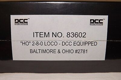 Bachmann Spectrum Baltimore & Ohio 2-8-0 Steam Loco BRAND NEW!UNOPENED BOX!W/DCC