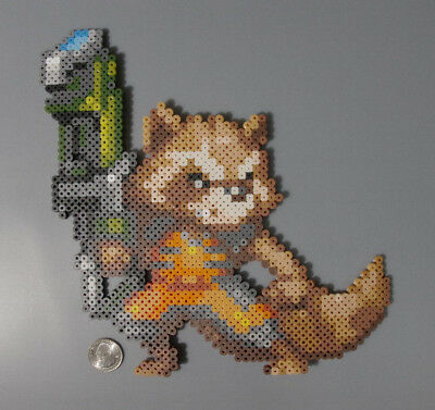 Rocket Guardians of the Galaxy Marvel Perler Hama Artkal Bead Pixel Art