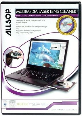 Allsop Multimedia Laser Lens Cleaner For DVD, CDs, Game Consoles and Laptops