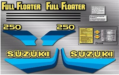 1982 82' Suzuki RM RM250 RM125 Complete 16pc Graphics Decal stickers set