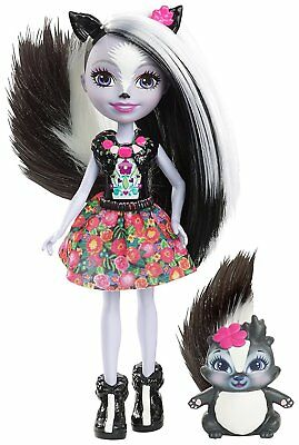 Enchantimals Funny Sage Skunk Caper Doll Kids Girls Fun Collectables  DYC75