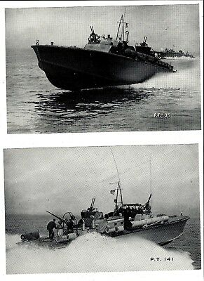 "WW2 Navy PT boat boat pics (2) officl Navy ""press photo"" type pics, 5 1/2"" x 8"""