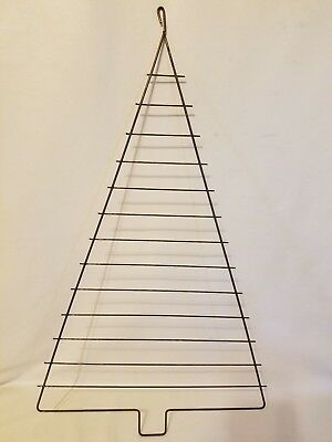 "Large 24"" Metal Steel Christmas Tree Craft Frame Vintage Macrame Supplies"